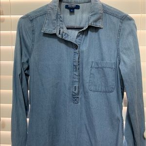 Old Navy Blue Button Down